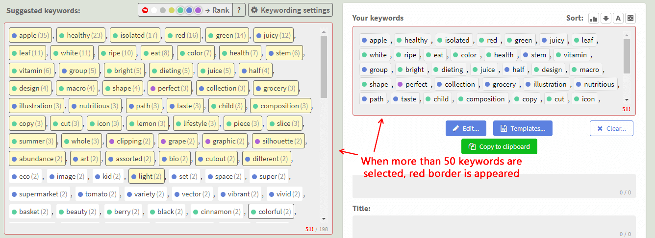 Too many keywords highlighting